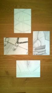 Tuschtropfen und noch drei weitere Bilder